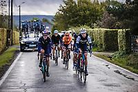 breakaway group with Ellen Van Dijk (NED/Trek-Segafredo) and Hannah Barnes (GBR/ Canyon-SRAM racing) in front<br /> <br /> <br /> 4th Liège-Bastogne-Liège-Femmes 2020 (1.WWT)<br /> 1 Day Race: Bastogne – Liège 135km<br /> <br /> <br /> <br /> ©kramon