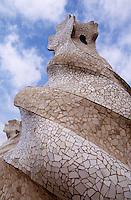 Europe/Espagne/Catalogne/Barcelone : La  Casa Mila La Pedrera - Les cheminées de l'architecte Gaudi [Non destiné à un usage publicitaire - Not intended for an advertising use] [Autorisation : 70]