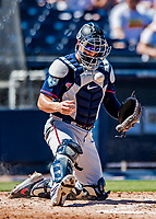 2 March 2019: Minnesota Twins catcher Mitch Garver in action during a Spring Training game against the Washington Nationals at the Ballpark of the Palm Beaches in West Palm Beach, Florida. The Twins fell to the Nationals 10-6 in Grapefruit League play. Mandatory Credit: Ed Wolfstein Photo *** RAW (NEF) Image File Available ***