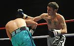 Tony Doherty (Blue shorts) V Geraint Harvey (White shorts).  Joe Calzaghe Promotions Boxing Evening .Date: Friday 20/11/2009,  .© Ian Cook IJC Photography, 07599826381, iancook@ijcphotography.co.uk,  www.ijcphotography.co.uk, .