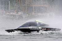 "13-14 June, 2009, APBA Inboards, Walled Lake, Novi, MI. USA.E-6 ""Quantum Leap"", 5 Litre hydroplane.©F. Peirce Williams 2009 USA.F.Peirce Williams.photography.ref: RAW (.NEF) File Available"