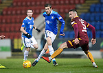 St Johnstone v Motherwell…15.12.18…   McDiarmid Park    SPFL<br />Murray Davidson and Tom Aldred<br />Picture by Graeme Hart. <br />Copyright Perthshire Picture Agency<br />Tel: 01738 623350  Mobile: 07990 594431