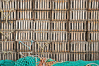 Lobster traps and fishing nets, Newport, Rhode Island
