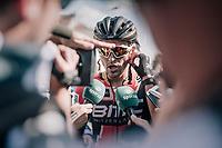 Greg Van Avermaet (BEL/BMC) being interviewed post-stage<br /> <br /> 104th Tour de France 2017<br /> Stage 3 - Verviers › Longwy (202km)