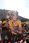 Primoz Roglic (SLO) Jumbo-Visma at the end of Stage 14 of La Vuelta d'Espana 2021, running 165.7km from Don Benito to Pico Villuercas, Spain. 28th August 2021.     <br /> Picture: Luis Angel Gomez/Photogomezsport   Cyclefile<br /> <br /> All photos usage must carry mandatory copyright credit (© Cyclefile   Luis Angel Gomez/Photogomezsport)