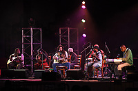 DELRAY BEACH - FEBRUARY 27: Julian Marley and Aston Barrett Jr perform a semi acoustic set with The Wailers at the Old School Square Pavilion on February 27, 2021 in Delray Beach, Florida. Credit: mpi04/MediaPunch