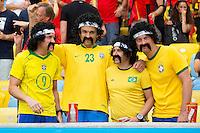 Brazil fans in fancy dress