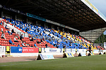 St Johnstone v Preston North End…13.07.21  McDiarmid Park<br />A welcome sight as fans sit in the Esat Stand<br />Picture by Graeme Hart.<br />Copyright Perthshire Picture Agency<br />Tel: 01738 623350  Mobile: 07990 594431