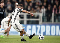 Juventus' Paulo Dybala kicks to score on a penalty kick during the Champions League round of 16 soccer match against Porto at Turin's Juventus Stadium, 14 March 2017.<br /> UPDATE IMAGES PRESS/Isabella Bonotto