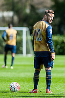 Thursday  14 April 2016<br /> Pictured: <br /> Re: Swansea City Under 21 match v Arsenal U21at the Landore Training Ground, Swansea, Wales, UK