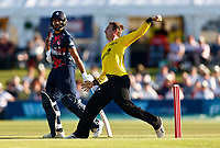 Tom Smith bowls for Gloucestershire during Kent Spitfires vs Gloucestershire, Vitality Blast T20 Cricket at The Spitfire Ground on 13th June 2021