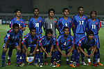 Players of Cambodia Team line up and pose for a photo prior to their AFF Suzuki Cup 2008 Group A match between Myanmar and Cambodia at Jalak Harupat Stadium on 09 December 2008, in Bandung, Indonesia. Photo by Stringer / Lagardere Sports