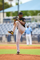FCL Pirates Black pitcher Cristopher Cruz (30) during a game against the FCL Rays on August 3, 2021 at Charlotte Sports Park in Port Charlotte, Florida.  (Mike Janes/Four Seam Images)