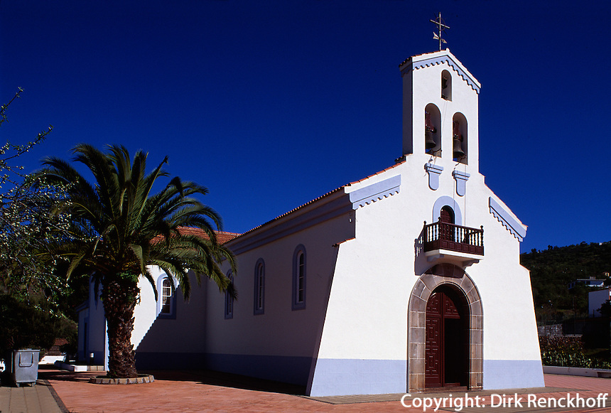 Spanien, Kanarische Inseln, La Palma, Iglesia San Mauro in Puntagorda