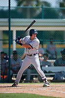 Detroit Tigers Luke Sherley (65) at bat during a Florida Instructional League game against the Pittsburgh Pirates on October 2, 2018 at the Pirate City in Bradenton, Florida.  (Mike Janes/Four Seam Images)