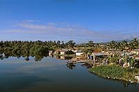 Dominikanische Republik, Mündung des Rio Nagua östlich von Nagua