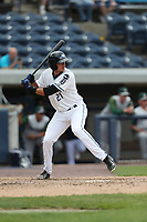 West Michigan Michigan Whitecaps shortstop Daniel Pinero (21) at bat against the Fort Wayne TinCaps during the Midwest League baseball game on April 26, 2017 at Fifth Third Ballpark in Comstock Park, Michigan. West Michigan defeated Fort Wayne 8-2. (Andrew Woolley/Four Seam Images via AP Images)