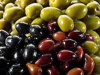 Mixed Kalamata, black  & green olives