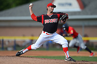 Batavia Muckdogs pitcher Trevor Williams (46) during a game against the State College Spikes on July 28, 2013 at Dwyer Stadium in Batavia, New York.  Batavia defeated State College 10-5.  (Mike Janes/Four Seam Images)
