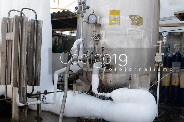 Campinas (SP), 22/03/2021 - Oxigênio/Covid-19 - Caminhão abastece tanque de oxigênio no Hospital Municipal Dr. Mario Gatti, nesta segunda-feira (22), na cidade de Campinas, interior de São Paulo.