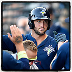 #OTD On This Day, June 8, 2017, designated hitter Tim Tebow (15) of the Columbia Fireflies scored a run in a game against the Lexington Legends at Spirit Communications Park in Columbia, South Carolina. Tebow has reached as high as Triple A and received a non-roster invitation to major league spring training in 2020 with the Mets. (Tom Priddy/Four Seam Images) #MiLB #OnThisDay #MissingBaseball #nobaseball #stayathome #minorleagues #minorleaguebaseball #Baseball #SallyLeague #AloneTogether