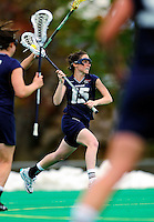 1 May 2010: University of New Hampshire Wildcat attacker Shaunna Kaplan, a Senior from Framingham, MA, in action against the University of Vermont Catamounts at Moulton Winder Field in Burlington, Vermont. The visiting Wildcats defeated the Lady Catamounts 18-10 in the last game of the 2010 regular season. Mandatory Photo Credit: Ed Wolfstein Photo