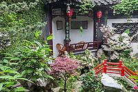 Yangzhou, Jiangsu, China.  Private Traditional Chinese Garden.
