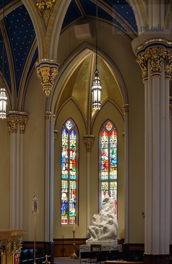 Jan. 10, 2012; Pieta Chapel, Basilica of the Sacred Heart..Photo by Matt Cashore/University of Notre Dame