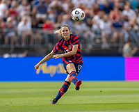 EAST HARTFORD, CT - JULY 5: Abby Dahlkemper #17 of the USWNT crosses the ball during a game between Mexico and USWNT at Rentschler Field on July 5, 2021 in East Hartford, Connecticut.