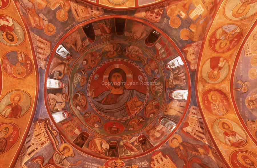 Unesco protected frescoed monasteries of the Troodos mountains.Lagoudera church