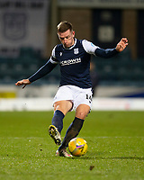 29th December 2020; Dens Park, Dundee, Scotland; Scottish Championship Football, Dundee FC versus Alloa Athletic; Lee Ashcroft of Dundee plays a pass forward