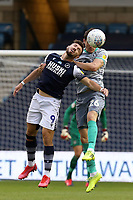 Tom Bradshaw of Millwall and Darragh Lenihan of Blackburn Rovers during Millwall vs Blackburn Rovers, Sky Bet EFL Championship Football at The Den on 14th July 2020