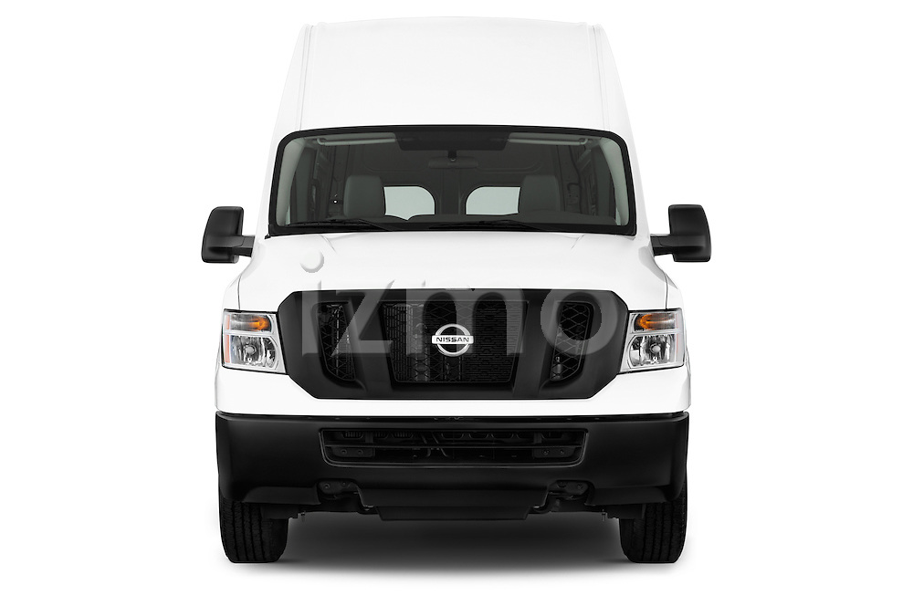 Straight front view of a 2013 Nissan NV 2500 High Roof V8 S Cargo Van