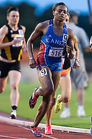 Rhavean King of Kansas competes in 800 meter prelims during West Preliminary Track and Field Championships, Friday, May 29, 2015 in Austin, Tex. (Mo Khursheed/TFV Media via AP Images)