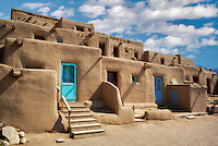 Dwelling structures in Pueblo de Taos. Taos, New Mexico