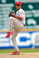 4 September 2005: Pedro Liriano, pitcher for the Philadelphia Phillies, on the mound against the Washington Nationals. The Nationals defeated the Phillies 6-1 at RFK Stadium in Washington, DC. Mandatory Photo Credit: Ed Wolfstein.