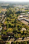 Aerial of housing and wetland preserve area, Tanasbourne, Oregon