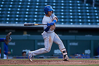 AZL Royals Omar Hernandez (12) at bat during an Arizona League game against the AZL Cubs 1 on June 30, 2019 at Sloan Park in Mesa, Arizona. AZL Royals defeated the AZL Cubs 1 9-5. (Zachary Lucy/Four Seam Images)