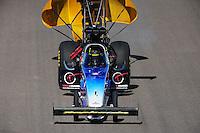 Oct. 16, 2011; Chandler, AZ, USA; NHRA top fuel dragster driver Cory McClenathan during the Arizona Nationals at Firebird International Raceway. Mandatory Credit: Mark J. Rebilas-