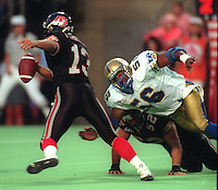 Elfrid Payton Winnipeg Blue Bombers 1993. Photo F. Scott Grant
