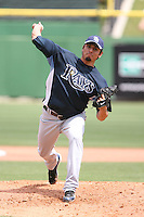 March 18th 2008:  Matt Garza of the Tampa Bay Devil Rays during a Spring Training game at Bright House Networks Field in Clearwater, FL.  Photo by:  Mike Janes/Four Seam Images