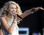 Photo by Mike Ullery.Taylor Swift performs at Country Concert in the Hills at Hickory Hills Lake at Ft. Loramie, Ohio on Sunday July 13, 2008.