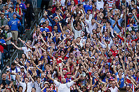 Seattle, WA - Thursday, June 16, 2016: USA supporters during the Quarterfinal of the 2016 Copa America Centenrio at CenturyLink Field.