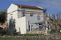 The house that belongs to the neighbours of John and Heather Hatton Thursday 16 February 2017<br /> THIS U=IMAGE WAS TAKEN FROM A PUBLIC ROAD<br /> Re: John and Heather Hatton, expat couple in Greece who are unable to sell their house in the village of Vamos, Chania, Crete to return to the UK because their neighbour won't pay his taxes.<br /> Heather Hatton needs to return to the UK for urgent medical care.