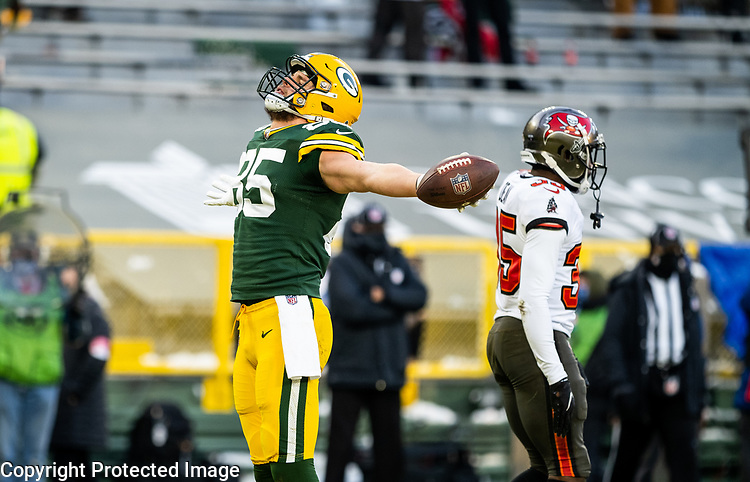 Green Bay Packers against the Tampa Bay Buccaneers during the NFC Championship game at Lambeau Field in Green Bay on Sunday, January 24, 2021.