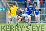 Micheál Burns, Kerry in action against Donal Keogan, Meath during the Allianz Football League Division 1 Round 4 match between Kerry and Meath at Fitzgerald Stadium in Killarney, on Sunday.