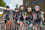 Oisin O'Connor, Jayden Lane, Owen Pathwell, Sadhbh Murphy and Sarah McGrath from Killarney Cycle Club at the Kerry Youth Cycling Initiative on Sunday Organised by the Kingdom  CC