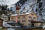 Stuben while leaving St Anton, Austria, Europe 2014,