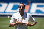 Real Madrid's new signing Danilo during his presentation at the Santiago Bernabeu stadium in Madrid, Spain. July 09, 2015. (ALTERPHOTOS/Victor Blanco)