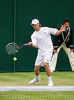 25-06-13, England, London,  AELTC, Wimbledon, Tennis, Wimbledon 2013, Day two, Andreas Seppi (ITA)<br /> <br /> <br /> <br /> Photo: Henk Koster